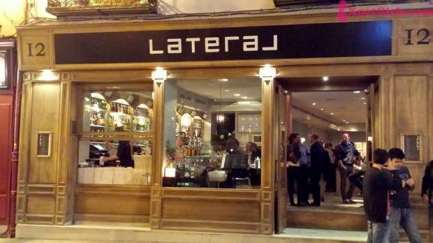 Perfect spots, delicious food: Lateral in Plaza Santa Ana.