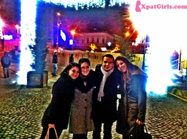 With my childhood friends (Alexandra, Dana & Andrei)