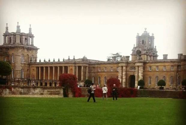 Blenheim Palace, Woodstock, Oxfordshire - the place where Winston Churchill was born on 30 November 1874, two months prematurely