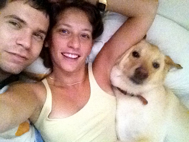 Family time in bed back in Israel