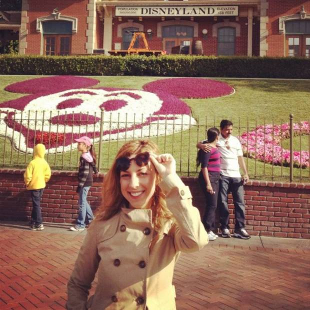 My trip to Disneyland while living in LA - I enjoyed it just as much as I did as a little girl! I was trying to take a pic with one of the characters, but the other one wouldn't take no for an answer. Also, this shows my notorious blonde period :-)