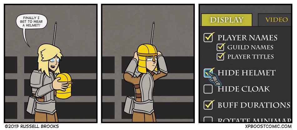What hero wears a helmet, anyway?