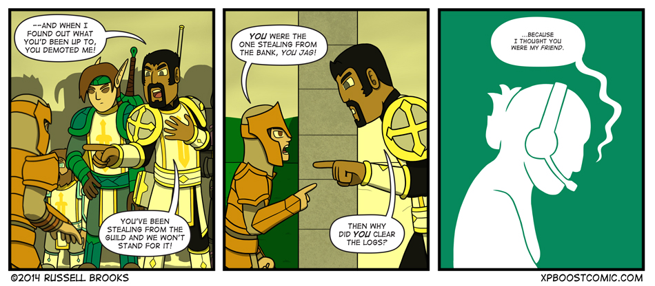 Ah, the rest of The Order. Elf guy. That Dwarf. Barely In-Panel Rogue.
