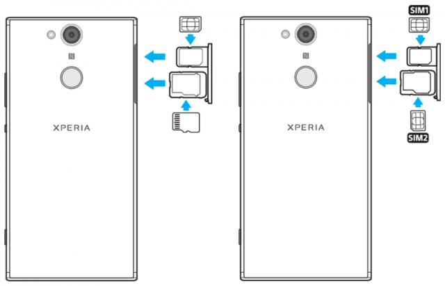 Xperia XA2 Dual has hybrid SIM tray; XA2 Ultra Dual has