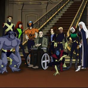 The first-season lineup of X-Men: Evolution.