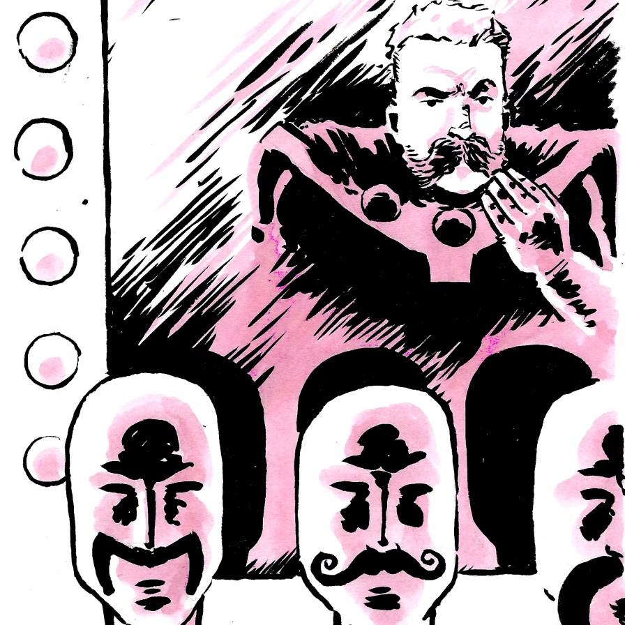 David Wynne also drew the kickass Lazerwolf we posted last week.
