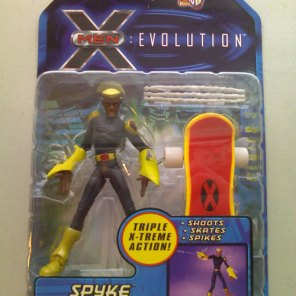 Ten years after McDuffie's letter, Marvel introduced Spyke in X-Men: Evolution: A black kid on a skateboard, who is related to the only other black character on the show.