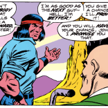 When Xavier finds him, Thunderbird is literally wrestling a buffalo to death.