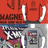 Rachel and Miles X-Plain the X-Men t-shirts: Now available! (Stickers, too.)