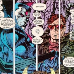 """Meet Mister Sinister! He's a creepy, creepy man who knows even more about the Summers family than Rachel does (and that's a lot). In 1993, Mister Sinister let slip that Scott and Alex might have a third brother, and for over a decade, pretty much every orphan in the Marvel Universe had """"probably a Summers brother"""" stuck on to the end of their official bio."""
