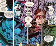 "Meet Mister Sinister! He's a creepy, creepy man who knows even more about the Summers family than Rachel does (and that's a lot). In 1993, Mister Sinister let slip that Scott and Alex might have a third brother, and for over a decade, pretty much every orphan in the Marvel Universe had ""probably a Summers brother"" stuck on to the end of their official bio."