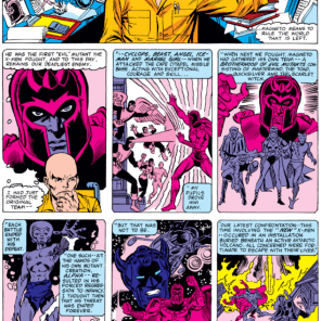 Professor Xavier, doing our job for us. (X-Men #149)
