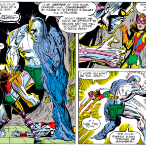 Even his villain speech is kinda forgettable, but we will take literally any excuse to post more pictures of Kitty's amazing outfit, so. (X-Men #149)