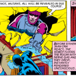 "This week in Scenes Only Chris Claremont Could Have Written: A giant robot busting through a ceiling and telling the shocked people inside, ""Fear not! All will be revealed in due course!"" (X-Men #151)"
