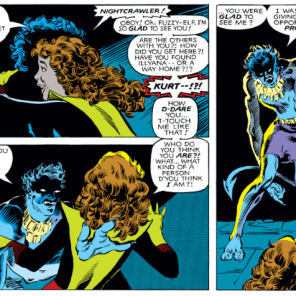 Aw. Man. Why are all the evil alternate Nightcrawlers super creepy and rapey? (X-Men #160)