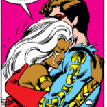 Cyclops successfully completes TWO whole hugs during the Brood Saga! Also: space fashion. (X-Men #163)