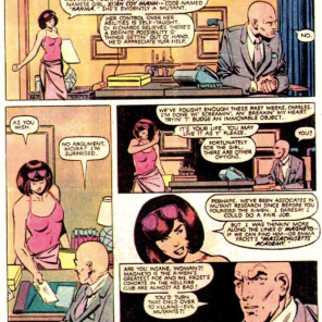 That time Moira MacTaggert manipulated Charles Xavier into starting a second ongoing X-book. (X-Men #165)