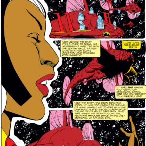 Storm X-plains the Acanti, part two. (X-Men #166)