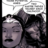 The world legitimately needs more Storm-and-Gambit-being-sneaky stories. They're good bros, those two. (Storm and Gambit #1)
