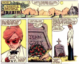 "Scott saying goodbye to Jean immediately before marrying Madelyne Pryor. That really, really didn't work out, but we like the sentiment--that ""true love"" doesn't always have to mean ""one true love."" (Uncanny X-Men #175)"