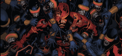 Cover art by Chris Bachalo from Uncanny X-Men #26.