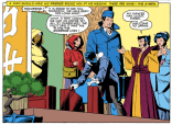 The X-Men show up to congratulate Wolverine on the completion of his first solo miniseries. (Uncanny X-Men #172)