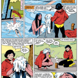 Remember that time Bob McLeod drew a full page of a teenager and casual nudity and there was no sexualization whatsoever? Because that was RAD. (New Mutants #3)