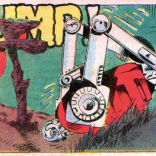 One of the better pratfall panels. (The X-Men and the Micronauts #2)