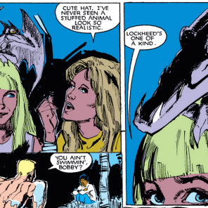 "The ""don't let the normal kids see"" joke kinda never gets old. (New Mutants #21)"