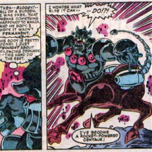 """Oh, HELL, yes,"" says Kitty. ""Cross THAT one off the bucket list."" (The X-Men and the Micronauts #3)"