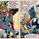 Modified rule: When someone else in Kitty's body makes her a new costume, steal someone else's drink. (The X-Men and the Micronauts #4)