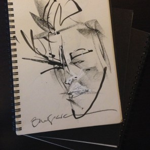 Rachel's other convention sketchbooks are all self portraits. Here's Bill Sienkiewicz's.