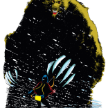The first full reveal of the Demon Bear. (New Mutants #18)