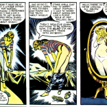 A friend pointed out that this comic is a pretty great window into what a certain category of dude thinks ladies do when they're alone. (Dazzler: The Movie)