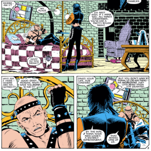 """The hard part wasn't bringing you back from the dead--it was getting you into those leather pants."" (X-Men #193)"