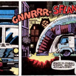 Pause for a moment to take in the glory of this perfect murder truck and its perfect sound effects. (Uncanny X-Men #123)