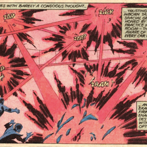 Cyclops solves problems with optic blasts and geometry! Take a drink! (Uncanny X-Men #124)