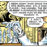 Let's take a moment of silence for how much more awesome this panel would be if Arcade were toying idly with a HeroQuest set. (Uncanny X-Men #146)