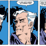 Indulge us in a momentary digression to make note of Magneto's fancy hair. (New Mutants #24)
