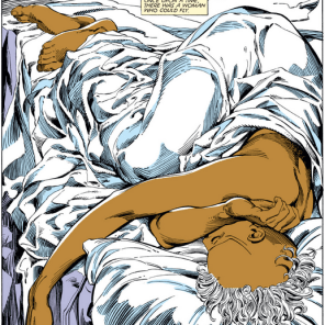 Contrast to the first page of Lifedeath I, 12 issues previous. (Uncanny X-Men #186)