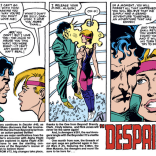 """There is literally no romantic or sexual relationship in this series that is okay by any reasonable definition. Also note that AMAZING block of """"next issue"""" text. (Secret Wars II #4)"""