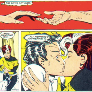 WELL THAT COULD BE LESS AWKWARD. (X-Men/Alpha Flight vol. 1, #1)