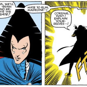 There's something intrinsically hilarious about Starjammers fly-bys. (Uncanny X-Men #200)
