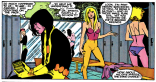 This is what happens when, between the inks and the colors, someone decides you can't show characters in just their underwear. (New Mutants #35)