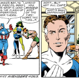Look at She-Hulk and Hercules being all charming in the background. (Fantastic Four #286)