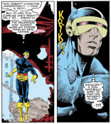Cyclops's father issues are basically their own character in this issue.