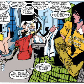 The New Mutants have the best incidental moments by a wide margin. (New Mutants #37)