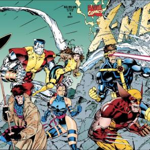 The gatefold cover of X-Men vol. 2 #1.