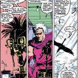 Magneto is trying so hard to be the man he promised Xavier he'd be. Poor guy. (New Mutants #40)