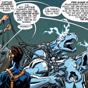Not your mama's Westchester: Meet Baron Kelly and his warwolves. (X-Men '92 #1)